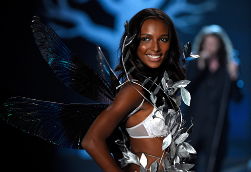 LONDON, ENGLAND - DECEMBER 02:  Model Jasmine Tookes walks the runway at the annual Victoria's Secret fashion show at Earls Court on December 2, 2014 in London, England.  (Photo by Pascal Le Segretain/Getty Images)