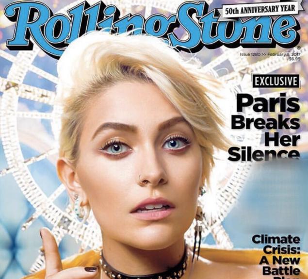 Capa da Rolling Stone, com Paris Jackson. Imagem: Divulgação