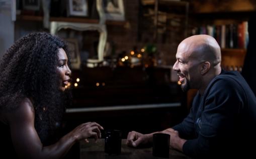 Serena Williams e Common em entrevista para a ESPN