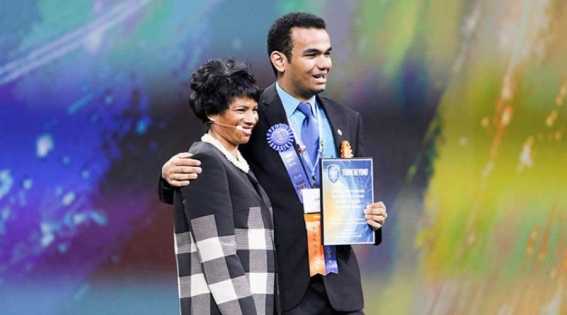 Luiz conquistou o segundo lugar de sua categoria. Foto: Reprodução/ Society for science