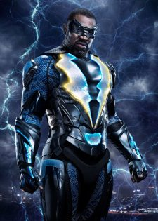 Black Lightning -- Image BLK_SINGLE_BLACKLIGHTNING.jpg -- Pictured: Cress Williams as Black Lightning -- Photo: Marc Hom/The CW -- © 2018 The CW Network, LLC. All rights reserved